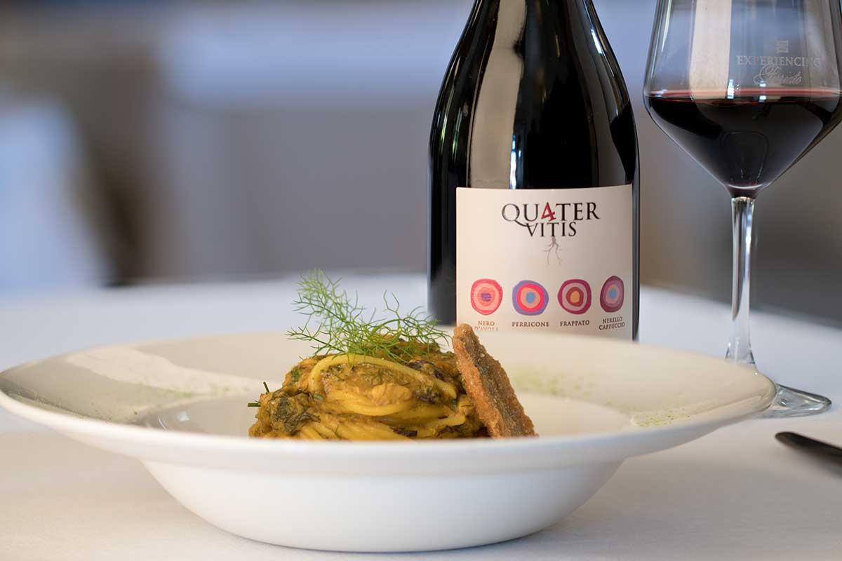 ©all copyright reserved by Firriato - La ricetta  pasta con le sarde - Quater Vitis Rosso
