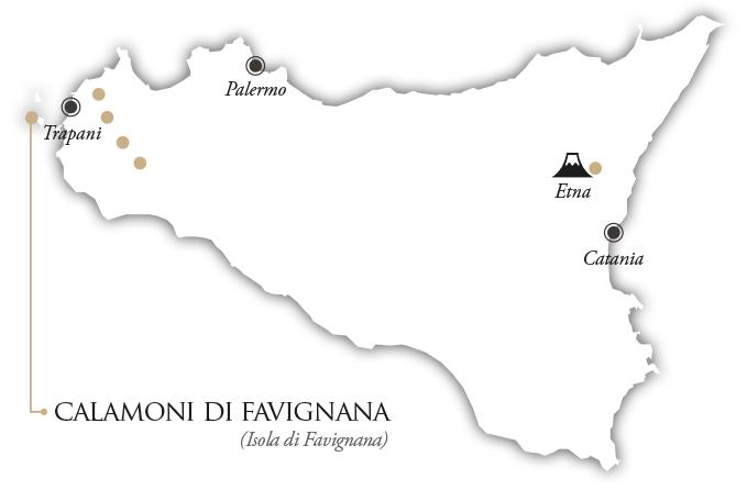 ©all copyright reserved by Firriato - mappa calamoni - Favinia Le Sciabiche