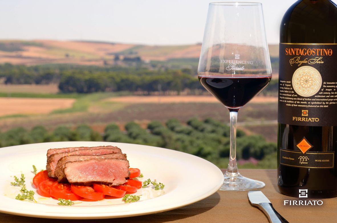 ©all copyright reserved by Firriato - Santagostino e tagliata di manzo - Carne e vini, gli abbinamenti consigliati da Firriato